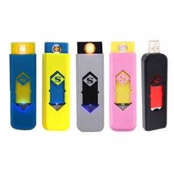 Environmental protection USB smart electronic cigarette lighter Set of 5 (Color may Vary) Price Philippines