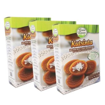 Harga Green Leaves Rice and Coconut Instant Dessert- Kutsinta- Brown Rice Cake Mix 3 Packs (3pcs)