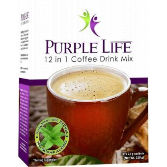 Harga Purple Life 12 in 1 Coffee Drink 21g(10 sachet)