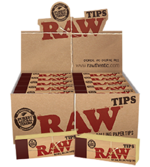 Harga Cigarette Rolling Papers RAW Tips Original (Pack of 4)