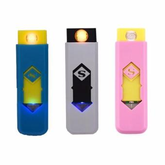 Environmental protection USB smart electronic cigarette lighter Set of 3 (Color may vary) Price Philippines