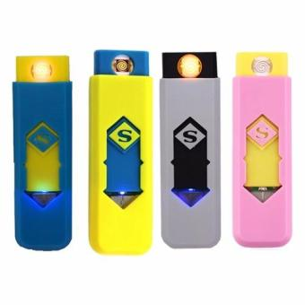 Environmental protection USB smart electronic cigarette lighter Set of 4 (Color may Vary) Price Philippines