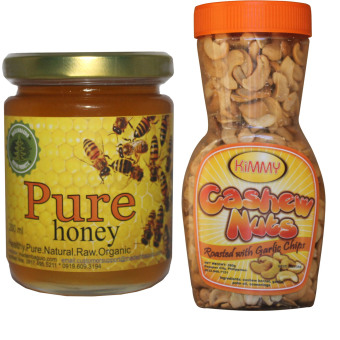 Harga Natural Pure Raw Honey Bundle With Cashew Nuts