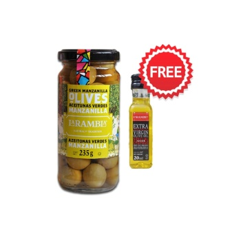 La Rambla Green Whole Olives 235g with FREE La Rambla Extra Virgin Olive Oil 20ml Price Philippines