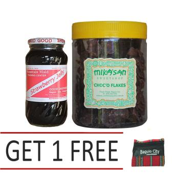 Harga Good Shepherd Strawberry Jelly Bundled with Baguio Mikasan Choco Flakes Get 1 Free Baguio Coin Purse