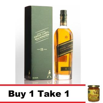 Buy 1 Johnnie Walker Green Label 700 Ml 15 Yo Take 1 Natural Pure Raw Honey Price Philippines