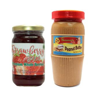 Harga Premium Strawberry Jam 8oz Bundled with Crunchy Peanut Butter Tall