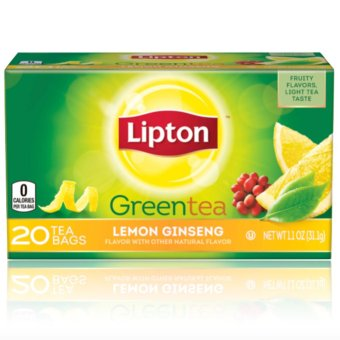 Harga Lipton Green Tea, Lemon Ginseng 20 Tea Bags