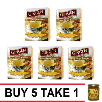 Harga Gingen Strong Ginger Tea 2/10 Count Buy 5 Take 1 Natural Pure Raw Honey