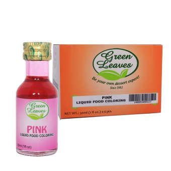 Harga Green Leaves Concentrated Pink Liquid Food Color 30ml x 12pcs