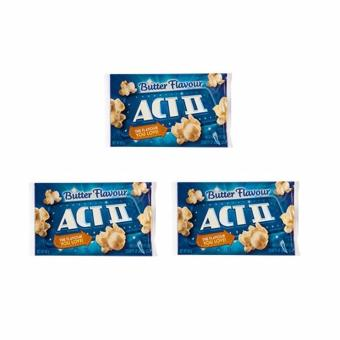 Harga ACT II Butter Flavour Popcorn 85 grams (SET OF 3)