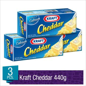 Kraft Cheddar Cheese 440g- Set of 3