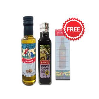La Rambla Infused Extra Virgin Olive Oil White Truffle 250ml + La Rambla Balsamic Vinegar 250ml + FREE NOTEPAD