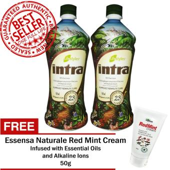 Lifestyles Intra 23 Herbal Juice (2 Bottles) with Free Red Mint Liniment Cream