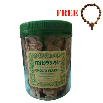 Mikasan Choco Flakes Milk Chocolate Flavor with FREE Rosary Bracelet (Design may vary)