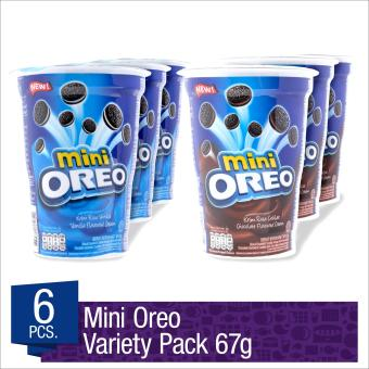 Mini Oreo Cookies Cup Vanilla & Chocolate 67g (Pack of 6)