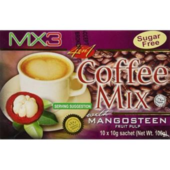 MX3 Coffee Mix with Mangosteen Exocarp 10 Sachets x 10 grams box
