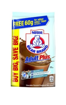NESTLE BEAR BRAND ADULT PLUS Choco 660g Bonus Pack (FREE 60g) Price Philippines