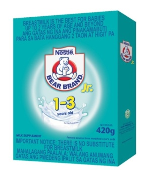 NESTLE BEAR BRAND Junior Powdered Milk Supplement for 1-3 years old, 420g Bag in Box Price Philippines