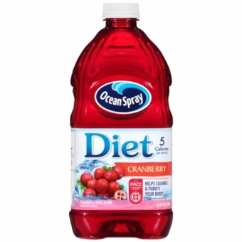 Ocean Spray Diet Cranberry Juice Drink 1.89L with FREE Gingerbon Ginger Sweets Regular 20g
