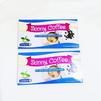 (Pack of 2) 10days Sakura Skinny Slimming Coffee w/ L-Carnitine,Garcinia Cambogia & Green Tea Extract 15g
