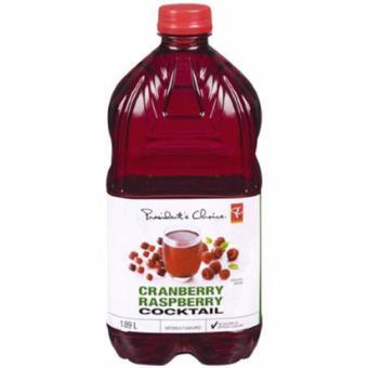 PC Cranberry Raspberry Cocktail Juice 1.89 Liters
