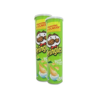 Pringles Potato Crisps Sour Cream & Onion 150g Set of 2 100086W36