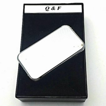 Q&F AM-283 Windproof Lighter with box (Silver) with FREE LDLACE