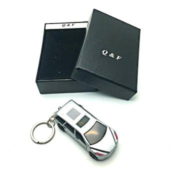 QF-Sports Car Lighter.(Silver)Windproof Lighter with FREE LD LACE