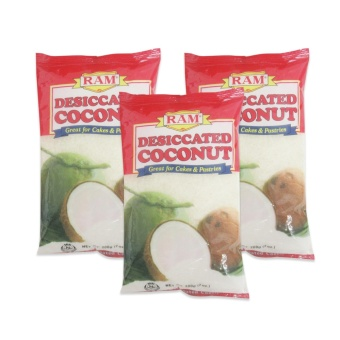 Ram Desiccated Coconut 24/200grams Set of 3 919007 W38