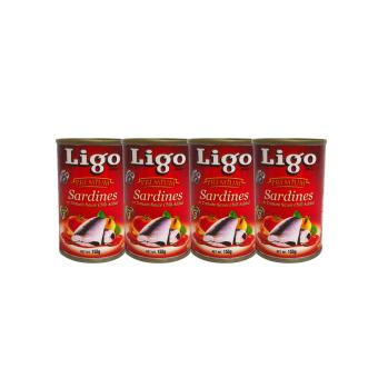 Red Ligo Premium Sardines in Tomato Sauce Chili Added 155g 4's000260 w51