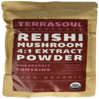 Red Reishi Mushroom Powder 4:1 Extract (Organic) 11 Ounces