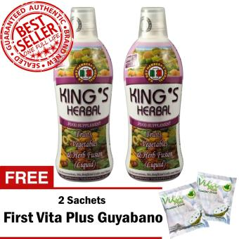 REH King's Herbal (2 Bottles) with FREE 2 Sachets First Vita Plus Guyabano Flavor