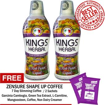 REH Kings Herbal (2 Bottles) with FREE Shape Up 7 Day Slimming Coffee