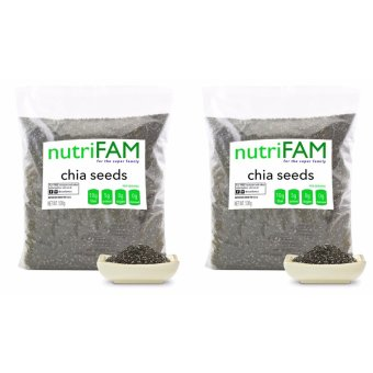 Set of 2 - nutriFAM USA Chia Seeds 500g