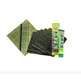 Sushi Maker Bundle (Nori, Bamboo Mat And Wasabi Paste)