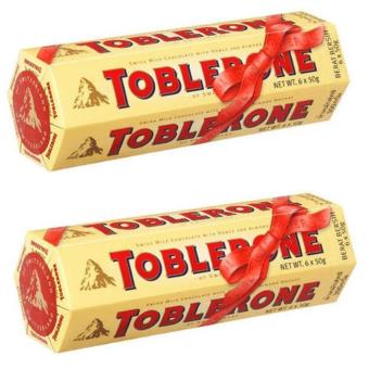 Toblerone Milk Chocolate with Honey and Almond (6x50g) - Set of 2