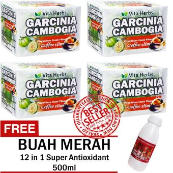 Vita Herbs Garcinia Cambogia Coffee Slim (4 Boxes) with FREE 12 in 1 Super Antioxidant Buah Merah