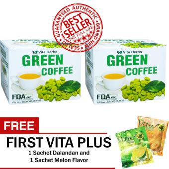 Vita Herbs Green Coffee 2 Boxes (10 Sachets Per Box) with FREE 2 Sachets First Vita Plus
