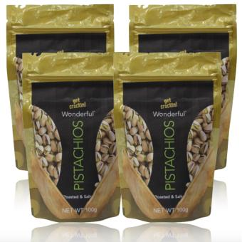 Wonderful Pistachios Value Pack 100g Set of 4 with FREE RubberBracelet LED Digital Wrist Watch (Color may vary)
