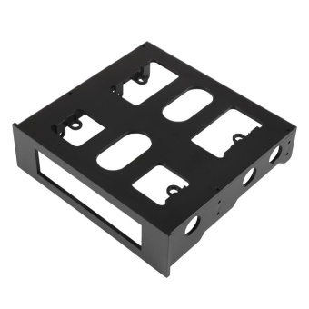 0 shipping fee 3.5'' to 5.25'' Drive Bay Computer Case Adapter Mounting Bracket USB Hub Floppy - intl - 4