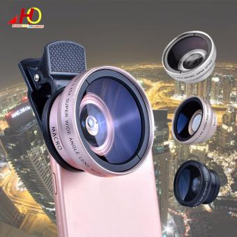 0.45X Super Wide Angle + Macro Lens Mobile Phone Lens 37mm 0.45x49UV (Rose Gold)
