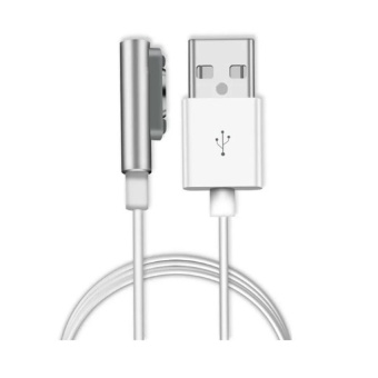 1 Meter Universal Magnetic Charging Cable For Sony Xperia Z1 (White) And Free Unique Lazy Pod