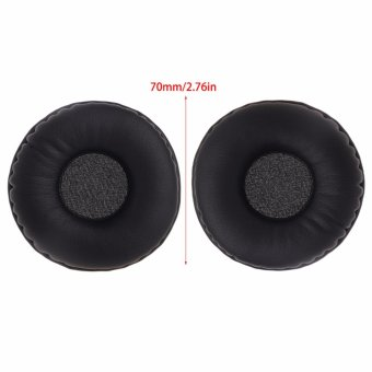 1 Pair Replacement Faux Leather Sponge Ear Pads Cushions ForHeadphone Headset 70mm - intl