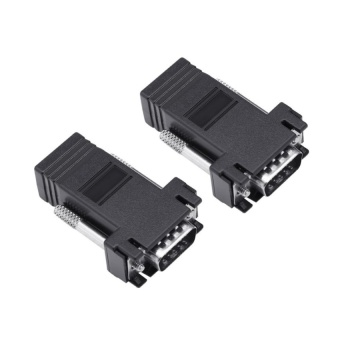 10 Pcs VGA to RJ45 Extender Adapter CAT5E CAT6EthernetCableConnector Male - intl