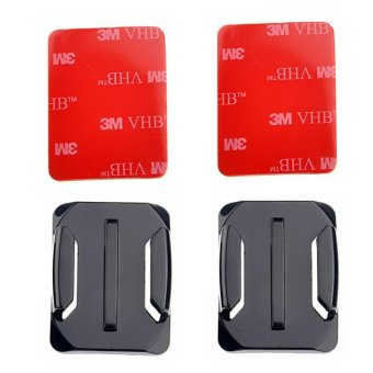 10 sets New Curved Surface Base For Go pro Curved mount 3M VHBAdhesive Sticky for GoPro Hero 4 3+ 2 Camera - intl