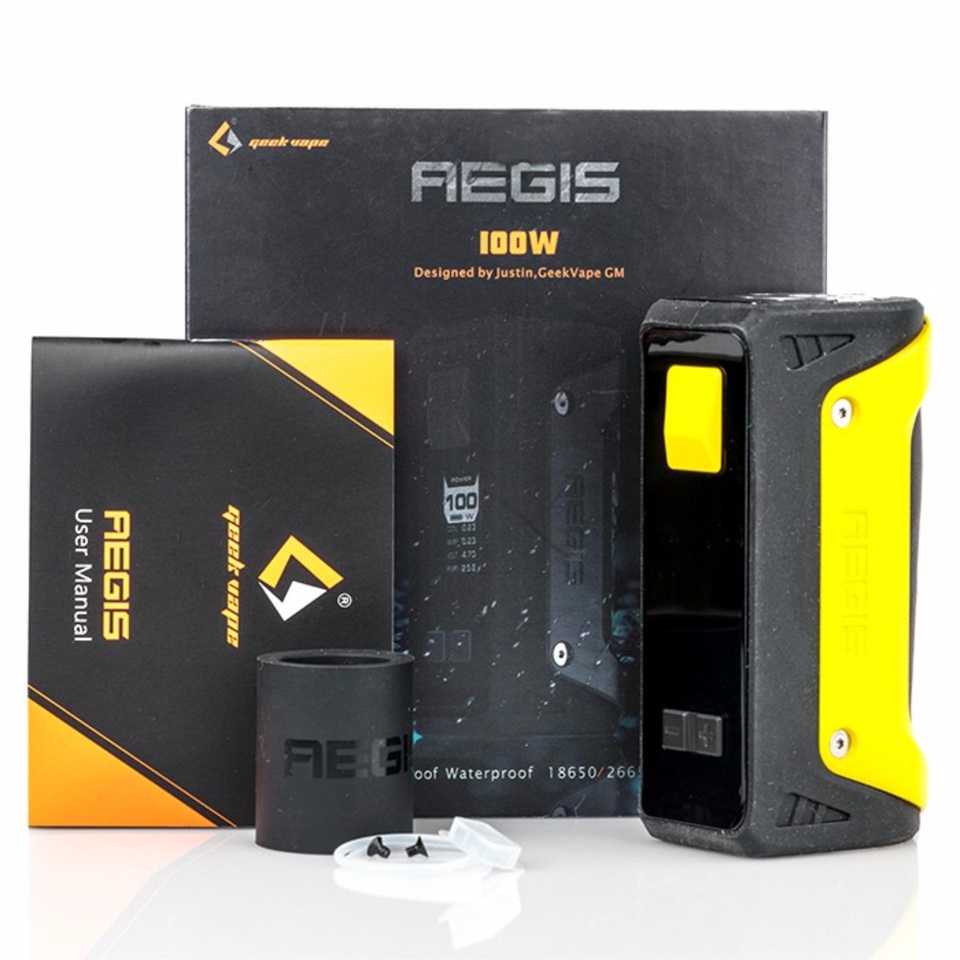 Buy 100w Original Geekvape Aegis Tc Box Mod With Medusa Legend 200w Authentic 100 Yellow