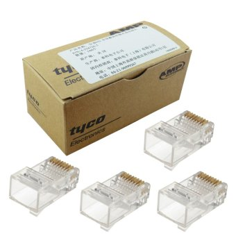 100pcs AMP RJ45 Connector CAT6 for Network