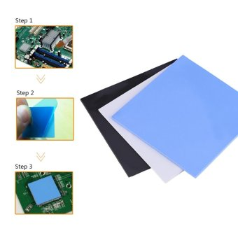 100x100x2mm CPU Thermal Pad Heatsink Cooling Conductive Silicone Pads Black - intl