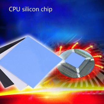 100x100x2mm CPU Thermal Pad Heatsink Cooling Conductive SiliconePads Blue - intl - 3